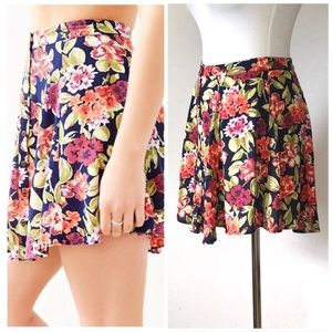 Urban Outfitters Kimchi Blue Floral Skirt